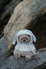 Hračky - Mini medvedk v obleku zajaca - 12863765_