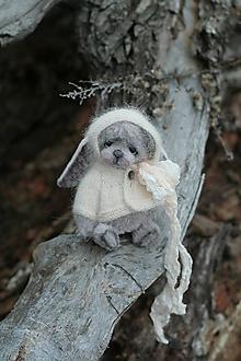 Hračky - Mini medvedica v obleku zajaca - 12863805_
