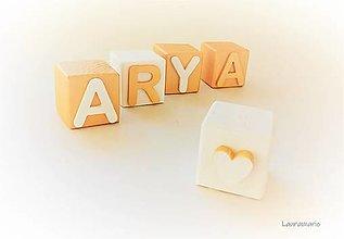 Hračky - Drevené kocky Arya  Gold & white 2021 - 12867197_