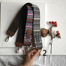 Iné doplnky - Kožený popruh (folk pattern) - 12863965_