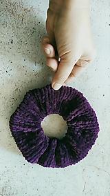 Ozdoby do vlasov - Scrunchie pletená gumička, fialová dolphy - 12864574_