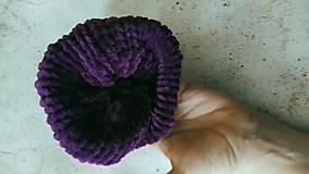 Ozdoby do vlasov - Scrunchie pletená gumička, fialová dolphy - 12864576_