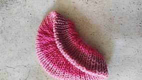 Ozdoby do vlasov - Scrunchie, pletená gumička, viacfarebne ružová - 12864611_