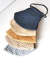 Rúška - Rúško dvojvrstvové bavlna/ľan - 12865357_