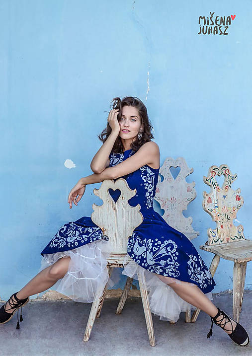 Šaty - Lastovička modrotlač - 12865299_