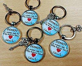 Kľúčenky - Personalizovaná kľúčenka s vlastným textom - 12863776_