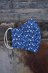 Rúško modré, drobné hviezdičky