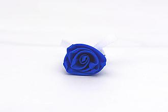 Pierka - Pierko kráľovská modrá-biela ruža - 12865742_