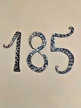 Dekorácie - kované číslo na dom  - 12866825_