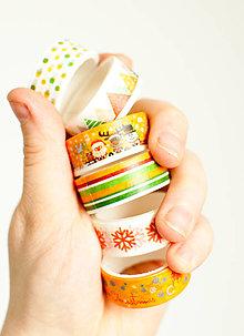 "Papier - WASHI "" Vianoce orange"" - 12865629_"