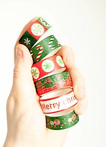 "Papier - WASHI "" Vianoce red-green"" - 12865725_"