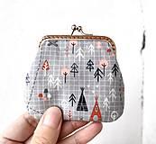 Peňaženky - Peňaženka mini Zvieratká a stromy - 12865740_