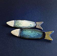 Brošne - Rybka zlatá a strieborná - 12865290_