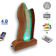 Svietidlá a sviečky - Stolná lampa vyrobená z dreva a epoxidu 8 - 12864040_