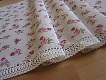 Úžitkový textil - ***  Prestieranie  malé ružičky *** (obdľžník 49 x 106 cm) - 12870442_