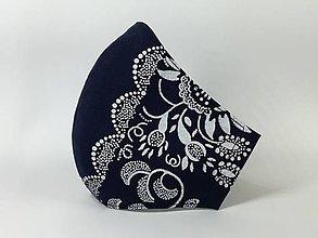 Rúška - Rúško antibakteriálne slnečnica na modrej - 12870644_