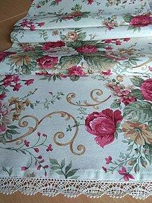 Úžitkový textil - Obrus -štóla bordo kvet - 12870053_