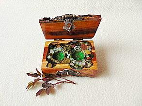 Krabičky - Drevená krabička na prstene Čarovné polienko - 12867832_