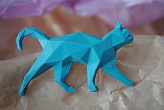 Brošne - Tyrkysová mačka - 12868350_