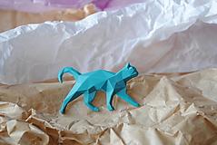 Brošne - Tyrkysová mačka - 12868351_