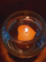 Svietidlá a sviečky - Plávajúce srdiečka - 12871931_