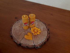 Svietidlá a sviečky - Voňavá darčeková valentínska krabička menšia - 12871927_