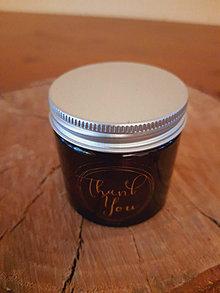 """Svietidlá a sviečky - Sviečka z včelieho vosku  """"Thank you"""" - 12871966_"""