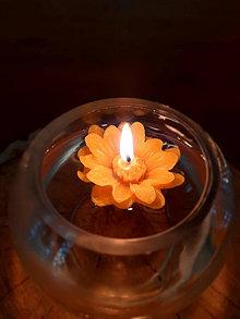 Svietidlá a sviečky - Plávajúca kvetinka - 12871977_