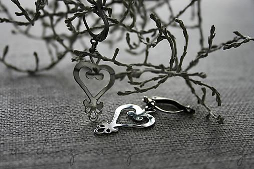 Náušničky srdce z kríža ušľachtilá oceľ