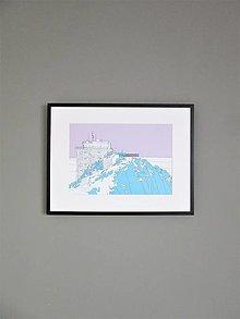 Grafika - Lomnický štít (print) (A4) - 12869650_