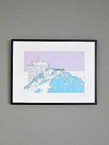 Grafika - Lomnický štít (print) (A3) - 12870501_