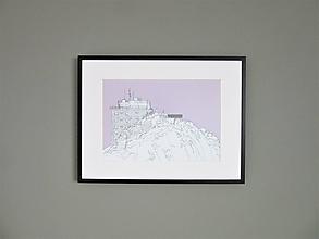 Grafika - Lomnický štít (print) - 12870901_
