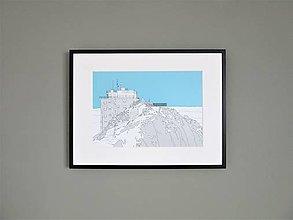 Grafika - Lomnický štít (print) - 12870953_