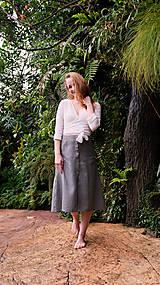 Sukne - MIA lněná sukně - 12868865_
