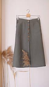 Sukne - MIA lněná sukně - 12868875_