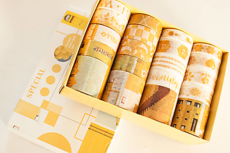 "Papier - Washi Set 20pcs "" yellow "" - 12870703_"