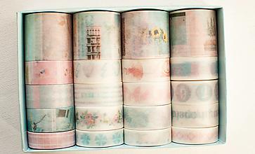 """Papier - Washi Set 20pcs """" púdrová """" - 12870723_"""