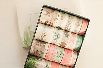 """Papier - Washi Set 20pcs """"green&pink """" - 12870764_"""