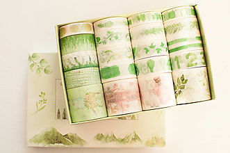 "Papier - Washi Set 20pcs ""green "" - 12870773_"