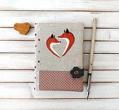 Papiernictvo - Zápisník Líšky v srdci  - A6 - 12870079_