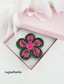 Brošne - Zamatový kvet - 12870716_