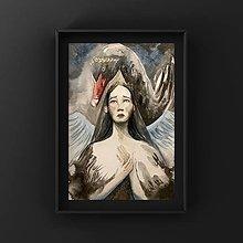 Obrazy - Originálna maľba-Čierna labuť - 12867859_