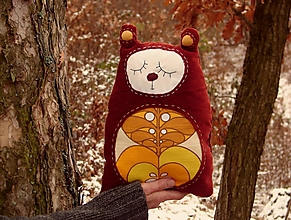 Úžitkový textil - vankúš: m a c o - jabĺčko - 12873502_