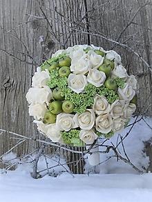 Kytice pre nevestu - kytica - Ruže s príchuťou jabĺk - 12874172_