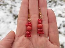Náušnice - Náušničky červený korál. - 12874214_