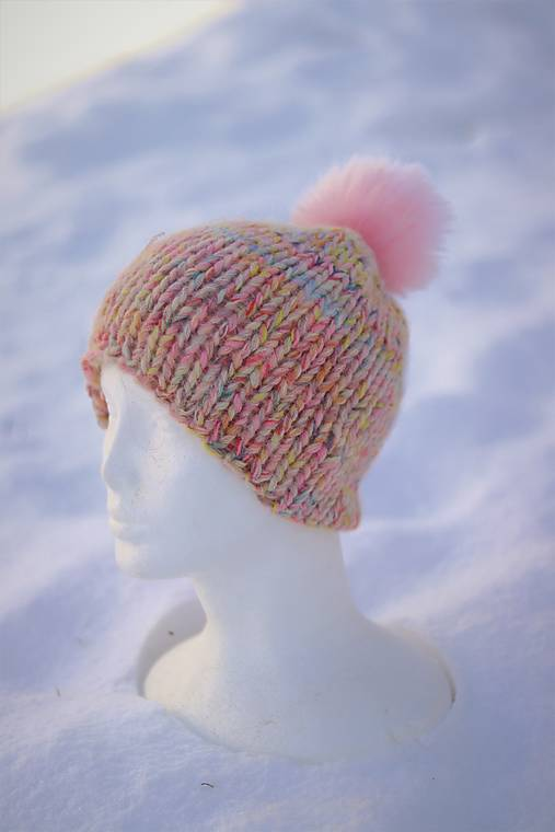 Hrubá pletená vlnená čiapka
