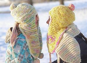 Čiapky - Hrubá pletená vlnená čiapka basetka extra - 12874461_