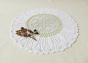 Úžitkový textil - Háčkovaná dečka Tri farby - 12872530_