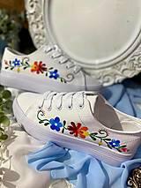 Obuv - ♥ Ručne maľované tenisky ♥ - 12873198_