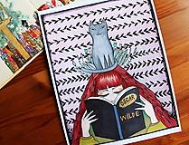 Kresby - Čítam Oscara Wilda - originál - 12872779_